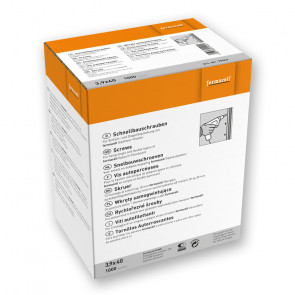 Rychlořezné šrouby fermacell 3,9 x 40 mm, 1000 ks